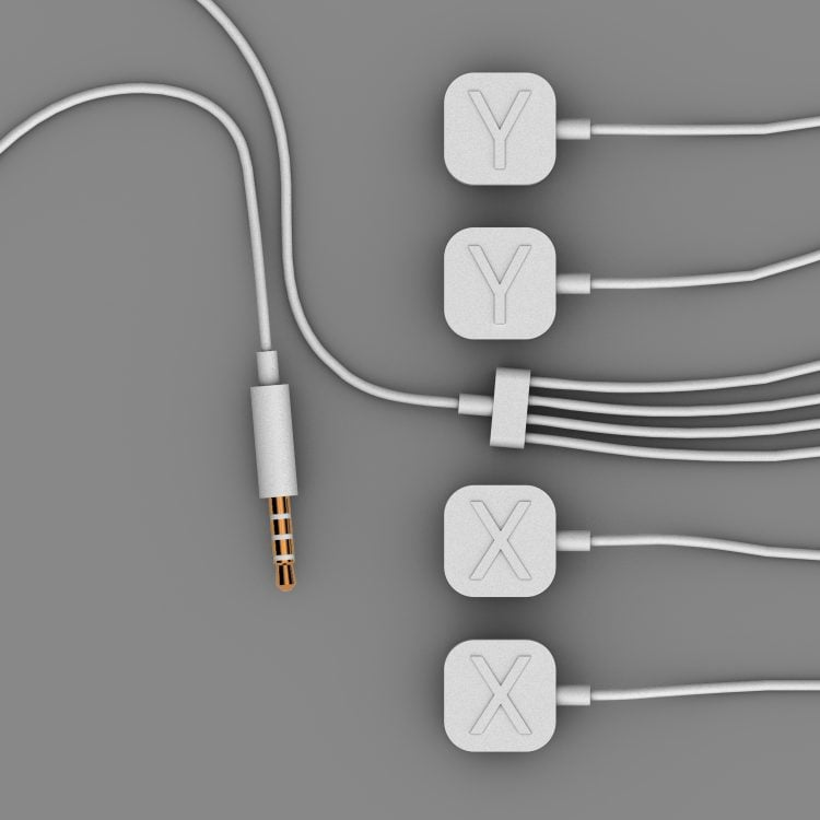 focus dual anode, dual cathode magnetic cables